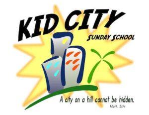 Children's Ministry - Kid City Sunday School Logo