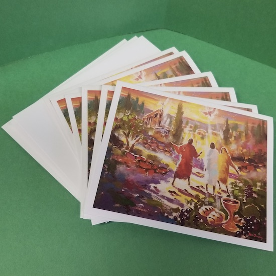 """On The Road to Emmaus"" Notecards"