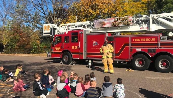 Fire Truck Visits Zion Pre-K